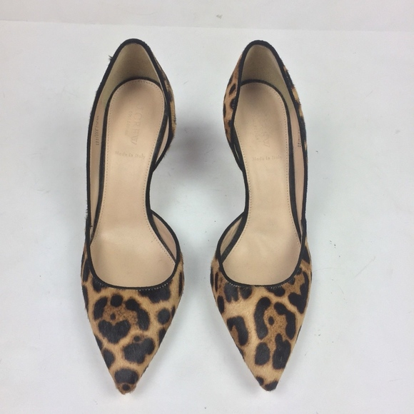 b72ae633e841 J. Crew Shoes - J Crew Colette d Orsay Pumps Leopard Calf Hair 9.5